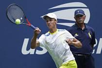 Český tenista Jonáš Forejtek ve finále dvouhry juniorů na US Open.