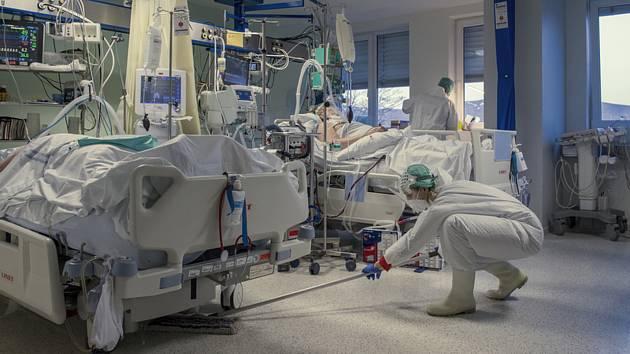 Covidové oddělení nemocnice v Liberci