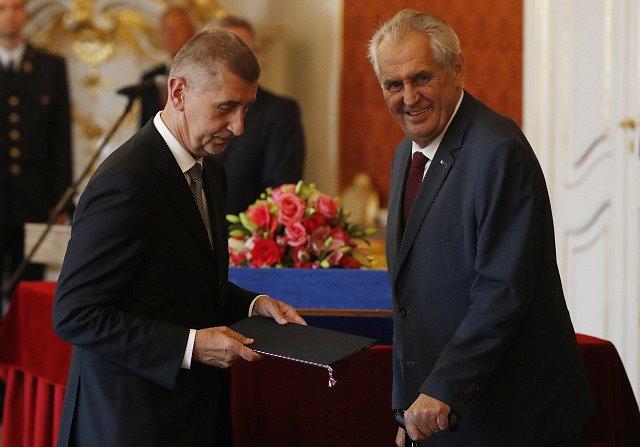 Andrej Babiš, Miloš Zeman
