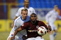 Sparťan Kweuke rozhodl na Bazalech o výhře Sparty 2:0.