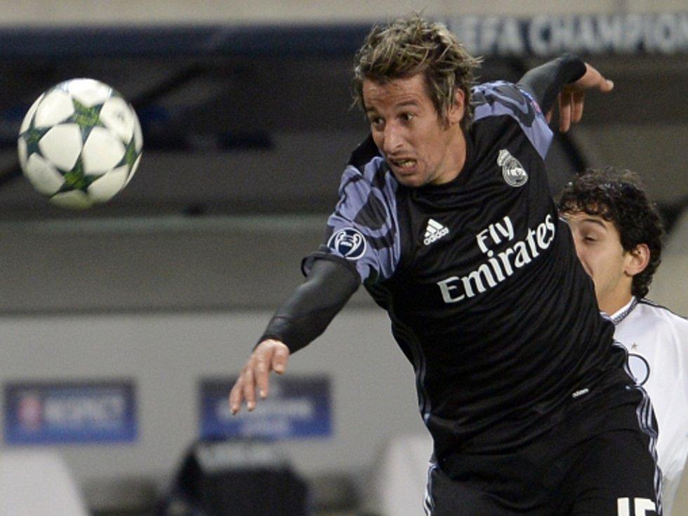 Fabio Coentrao z Realu Madrid proti Legii Varšava.