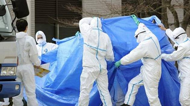 Pracovníci elektrárny Fukušima. Ilustrační foto