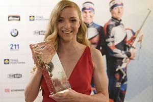 Markéta Davidová převzala 30. května 2019 v Praze ocenění za vítězství v anketě o nejlepšího českého biatlonistu sezony 2018/19