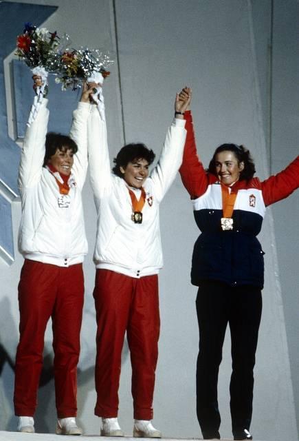 Olga Charvátová na stupních vítězů v Sarajevu