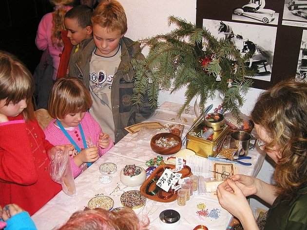 Vánoce v hornické chalupě na Březových Horách v Příbrami.