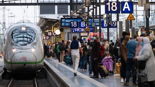 Vlakové nádraží ve Frankfurtu