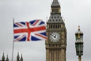 Britská vlajka v Londýně