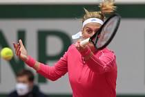 Petra Kvitová v osmifinále French Open.