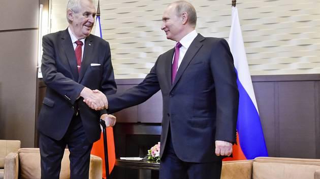 Miloš Zeman (vlevo) a Vladimir Putin.