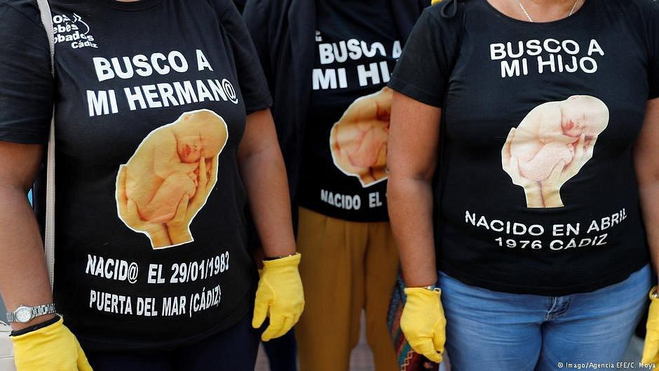 Demonstrace proti únosům dětí ve Španělsku