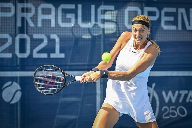 Petra Kvitová na Prague Open 2021 vypadla už v 1. kole.
