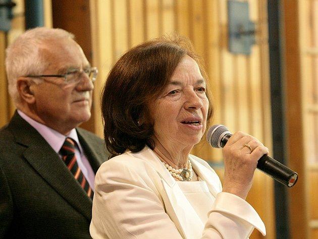 Livia Klausová s manželem Václavem.