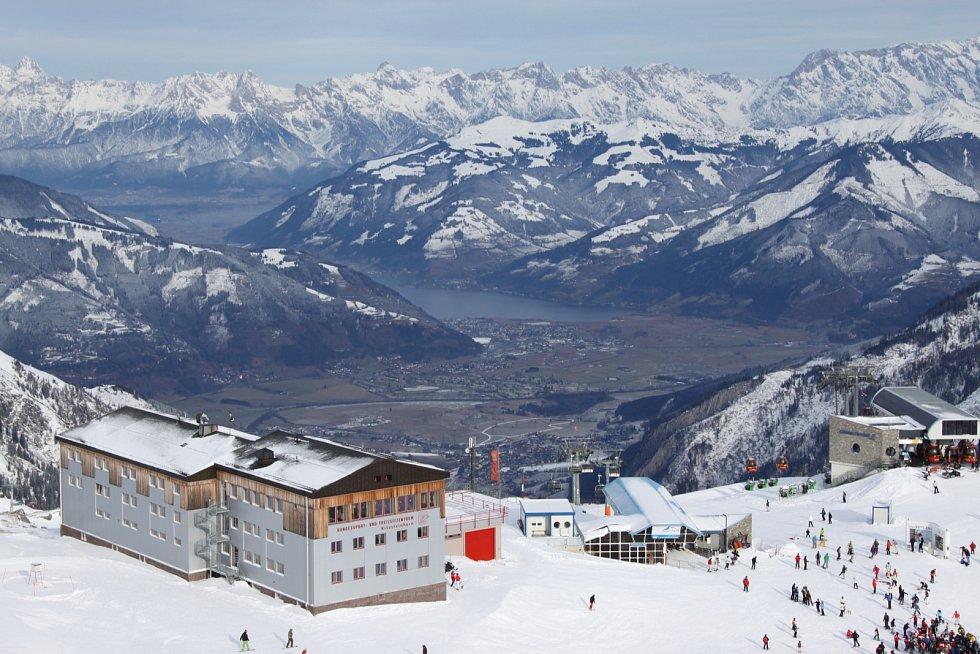 Rakouské alpské středisko Kaprun