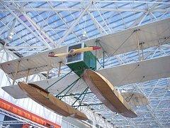Replika prvního letadla Boeing - Model 1 v Muzeu létání v Seattlu