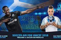 Plakát zvoucí na charitativní fotbalové utkání