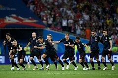 Chorvatsko se raduje z vítězství nad Ruskem.
