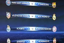 Los čtvrtfinále Ligy mistrů: Barcelona vyzve Paris St. Germain, Atlético Madrid se utká s městským rivalem Realem, Bayern Mnichov čeká Porto a Juventus Turín Monako.