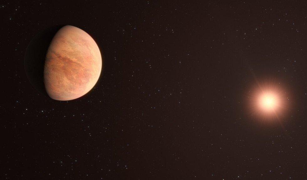 Umělecká představa jedné z exoplanet obíhajících hvězdu L 98-59