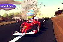 Počítačová hra F1 Race Stars.
