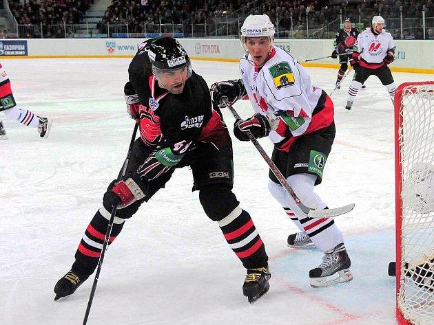 Jaromír Jágr v KHL válí jako zamlada.