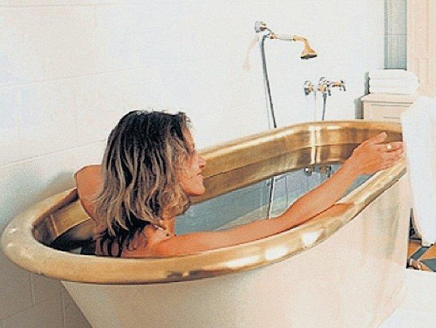 Uhličité koupele v lázních Luhačovice.