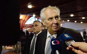 Miloš Zeman na Parlamentním shromáždění Rady Evropy