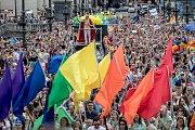 Pochod Prague Pride prošel 11. srpna centrem Prahy.
