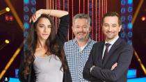 Eva Burešová, Aleš Háma a Ondřej Sokol v televizním pořadu Tvoje tvář má známý hlas.