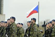 Slavnostní nástup vojáků proběhl na pietním aktu u příležitosti Dne válečných veteránů 11. listopadu 2018 v Praze u Národního památníku na Vítkově.