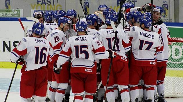 Tak hokejisté slavili výhru nad Slováky