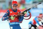 Tomáš Krupčík ve sprintu SP v Novém Městě na Moravě.