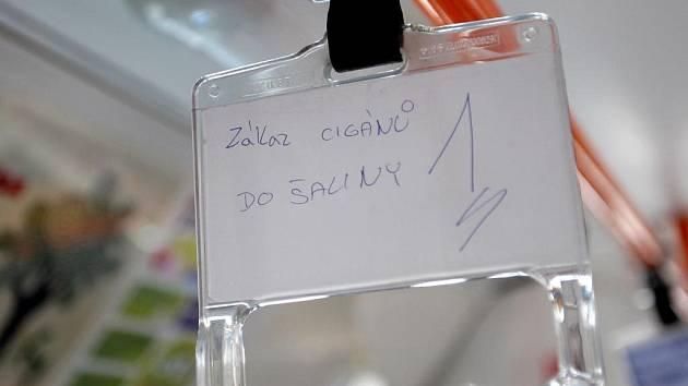 Rasistické nápisy v Brně