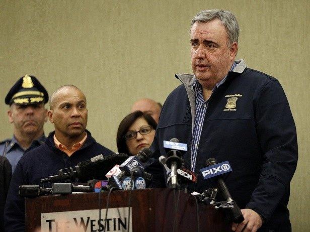 Tisková konference bostonské policie