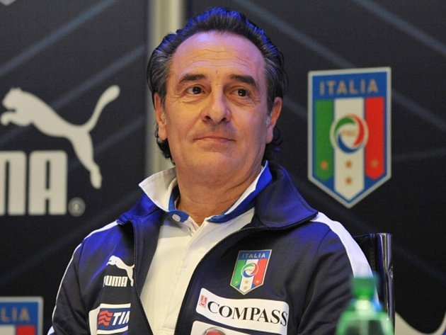Trenér italských fotbalistů Cesare Prandelli.