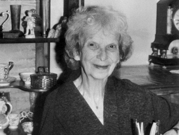 Bývalá poslankyně Národního shromáždění Gertruda Sekaninová-Čakrtová.