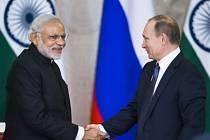 Narendra modi a Vladimír Putin