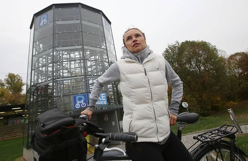 Tisící cyklista, který si uložil své kolo do cyklověže od otevření v červenci tohoto roku.