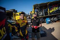 Kamion Martina Macíka bojuje na Rallye Dakar o vedení