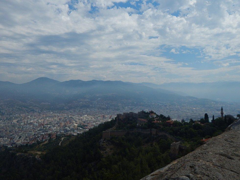 Alanya: výhled na centrum města