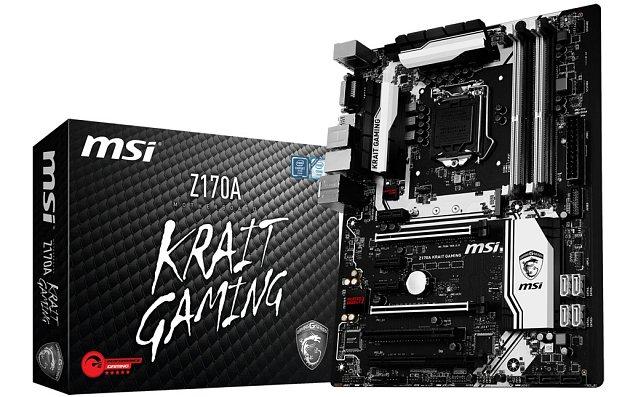 Základní deska MSI Z170A Krait Gaming.