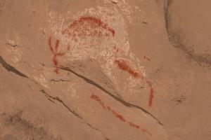 Skalní kresby v jeskyni Romualdova Pećina