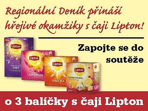 Zapojte se do soutěže o 3 balíčky s čaji Lipton.