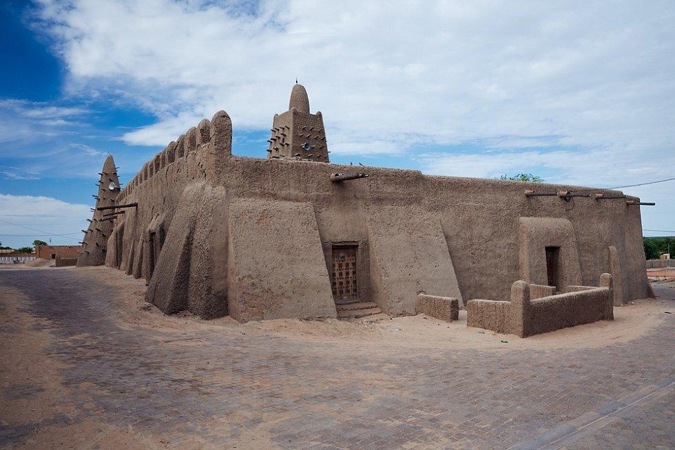 Město Timbuktu v Mali