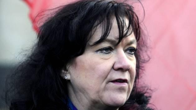 Poslankyně Marta Semelová (KSČM).