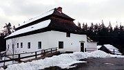 Historická rybářská bašta u rybníku Olšina.