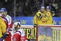 Čeští hokejisté podlehli na úvod Švédských her domácímu týmu 2:5