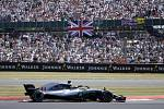Úřadující šampión F1 Lewis Hamilton během letošní Velké ceny Velké Británie na okruhu v Silverstone