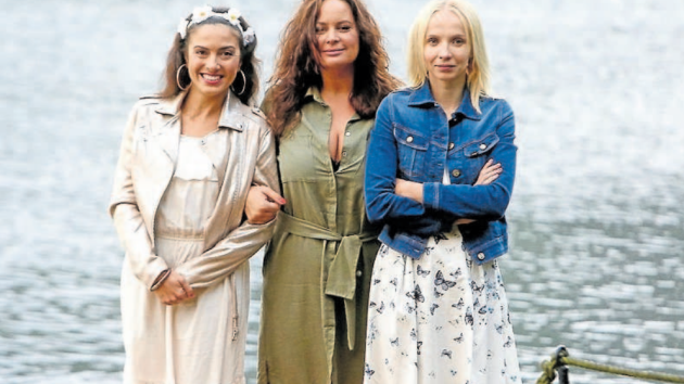 Parťačky. Lucia Siposová, Jitka Čvančarová a Jana Plodková. Jim patří nedělní obrazovka.