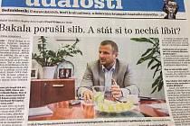 Rozhovor s Pavolem Krúpou v sobotním Deníku.