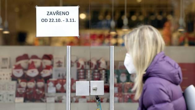 Uzavřený obchod v centru Prahy